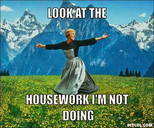 housework-sound-of-music-meme-generator-look-at-the-housework-i-m-not-doing-96757c
